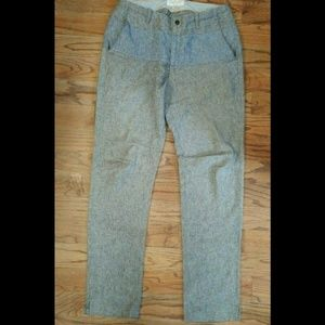 Womens Rag & Bone Career Pants Slacks Gray Cotton